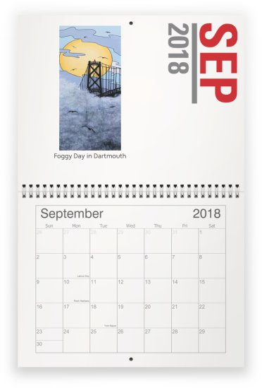 2018 Calendar | MAEISART   ARTWORK BY WENDY BISSETT BEAVER OF